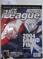Sale 8404S - Lot 27 - 2004 Big League Grand Final Programme, Oct 3 (Vol.85, No.30), Easts v Canterbury