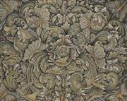 Sale 8711 - Lot 2068 - Artist Unknown (Balinese School) - Flowers and Butterflies, Pengosekan Bali 42.5 x 58cm