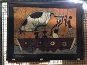 Sale 8789 - Lot 2060 - Original Batik by an Unknown Artist, 58 x 76cm, signed lower left