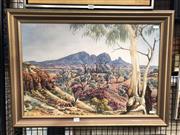 Sale 8797 - Lot 2023 - Albert Namatjira, Decorative Print, 51.5 x 71cm