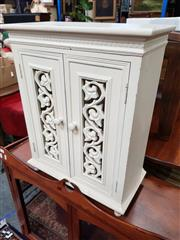 Sale 8834 - Lot 1090 - Painted Small Timber Cupboard With Two Doors