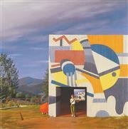 Sale 8896A - Lot 5052 - Jeffrey Smart (1921 - 2013) - Painted Factory, Tuscany 1972 89 x 89 cm
