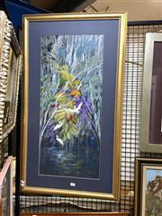 Sale 8891 - Lot 2063 - Artist Unknown - Rainforest Scene acrylic, 55 x 99cm (frame), signed