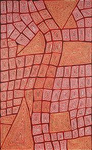 Sale 9038 - Lot 566 - Thomas Tjapaltjarri (c1964 - ) - Tingari 147 x 90 cm (stretched and ready to hang)
