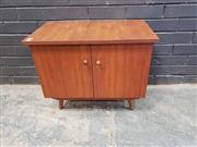 Sale 9039 - Lot 1090 - Vintage Teak Record Cabinet (h:53 x w:64 x d:37cm)